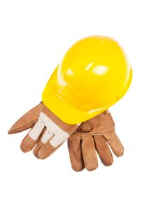 Free Hardhat And Glove Royalty Free Stock Photography - 13728437