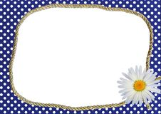Free Dotted Frame With Daisy Royalty Free Stock Images - 13729059