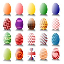 Free Lots Of Easter Eggs Royalty Free Stock Photography - 13729337