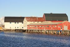 Free Lofoten S Old Fish Factory Stock Image - 13729431