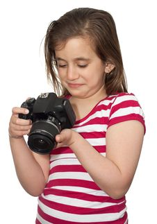 Girl Looking At A Camera Royalty Free Stock Images