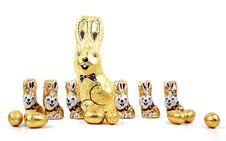 Easter Chocolate Rabbitt - Bunny Royalty Free Stock Photo