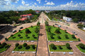 Free ViangChan City, Top View From Victory Monument Royalty Free Stock Photography - 13733237