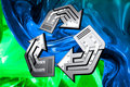 Free Conceptual Recycling Symbol Royalty Free Stock Photos - 13734308