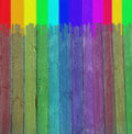 Free Multi-coloured Wooden Wall Stock Photos - 13735813
