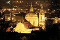Free Night Prague With St. Nicholas  Cathedral Stock Photography - 13739402