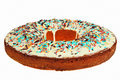 Free Round Cake With Colorful Decoration. Stock Photos - 13739483