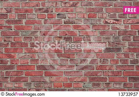 Free Old Brick Wall Royalty Free Stock Photography - 13733957