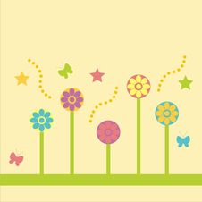 Free Cute Floral Background Stock Photo - 13730400