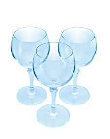 Free Three Wine Glasses Royalty Free Stock Photos - 13730668