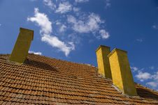Free Three Chimneys On Rooftop Stock Photo - 13731290