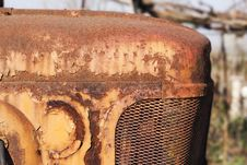 Free Old Tractor Hood Royalty Free Stock Photos - 13731478