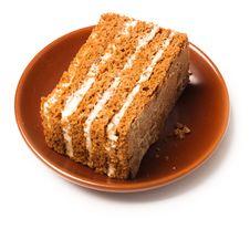 Free Sweet Honey Cake Royalty Free Stock Photos - 13731678