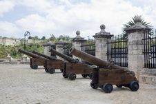 Free The Castle Of The Force Defense Cannons (I) Royalty Free Stock Photo - 13732575
