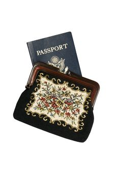 Passport In Women's Coin Purse Royalty Free Stock Photo