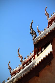 Free Symbol Of Nagas On The Roof Of Temple,Thailand Stock Image - 13733041