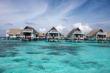 Free Water Villas Stock Image - 13733071