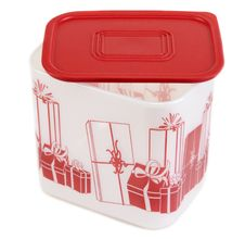 Free Plastic Container With Red Lid Stock Photos - 13733923