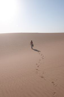 Free Walking In The Desert Royalty Free Stock Photography - 13733927