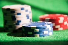 Free Poker Chips Royalty Free Stock Photos - 13734058