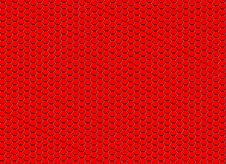 Free Background From Red Hexagons. Stock Image - 13734411