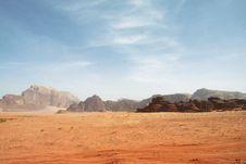 Desert In Wadi Rum Stock Photography