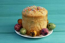 Free Easter Cake With Eggs Royalty Free Stock Images - 13734859