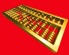 Free Golden Abacus Royalty Free Stock Images - 13734879