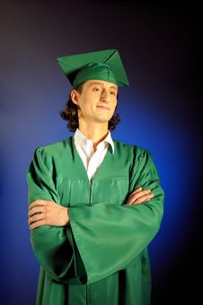 Free Portrait Of A Succesful Man On His Graduation Day Stock Image - 13735411