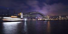 Free Sydney Harbor Bridge At Dark Royalty Free Stock Photo - 13735425