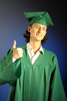 Free Portrait Of A Succesful Man On His Graduation Day Royalty Free Stock Photo - 13735445