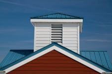 Free Red, White And Blue Gable And Cupola Royalty Free Stock Photo - 13735635