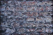 Old Grey Brick Wall Stock Image