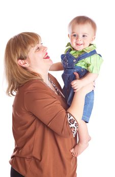 Free Mother And Son Stock Images - 13735924
