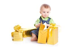 Free Baby With Gifts Royalty Free Stock Images - 13735939