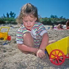 Free Beach Play Royalty Free Stock Image - 13736466