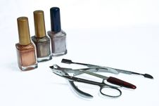 Free Varnishes, Nippers And Scissors Stock Photos - 13736573