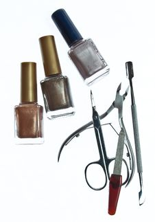Free Varnishes, Nippers And Scissors Stock Image - 13736591