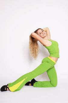 Free Young Woman Doing Stretching Exercise Stock Photos - 13736633