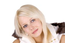 Free Woman With Fur Coat Stock Image - 13736981