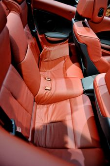 Free Red Car Seat Stock Photography - 13737182