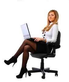 Free Business Woman With Laptop Royalty Free Stock Photo - 13737205