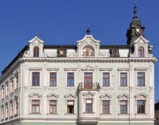 Historical House Facade In Kromeriz,world Heritage Royalty Free Stock Images