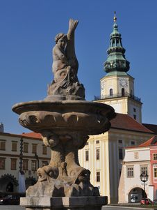 Historical Kromeriz,world Heritage Stock Photo