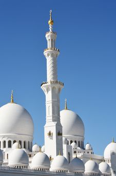 Free Minaret And Domes Of Sheikh Zayed Mosque Stock Image - 13737961