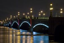 Free Bridge Illumination Royalty Free Stock Image - 13738626