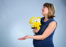Young Cute Pregnant Girl Royalty Free Stock Images