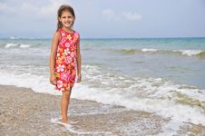 Free Girl And The Sea. Royalty Free Stock Photography - 13738987