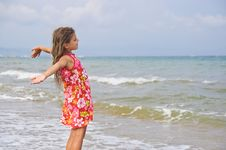 Free Girl And The Sea. Royalty Free Stock Photo - 13738995