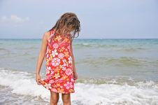 Free Girl And The Sea. Stock Photos - 13739003